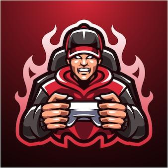 Il logo della mascotte dei giocatori esportatori