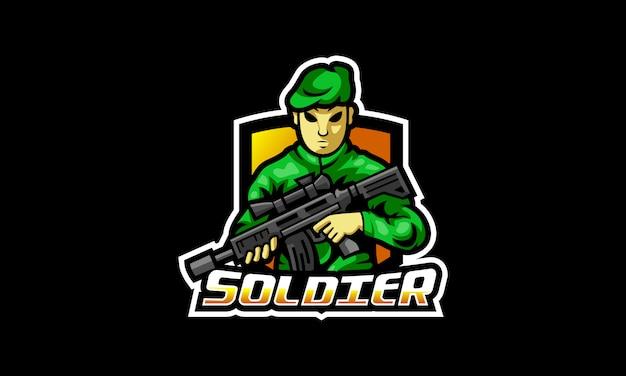 Il logo esports del soldato