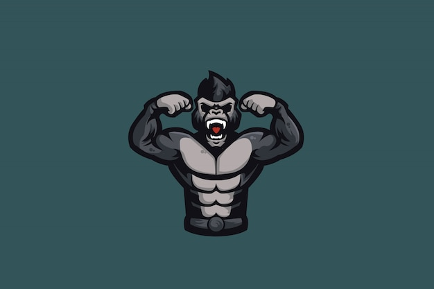Il logo gorilla e sports