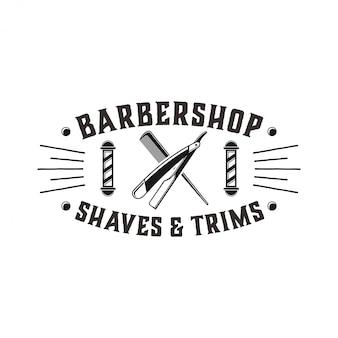 Il logo per barbiere con stile vintage