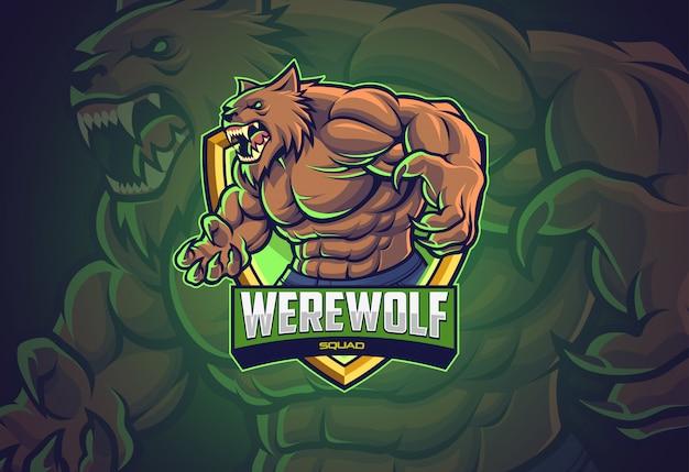 Il lupo mannaro esporta il design del logo per la tua squadra