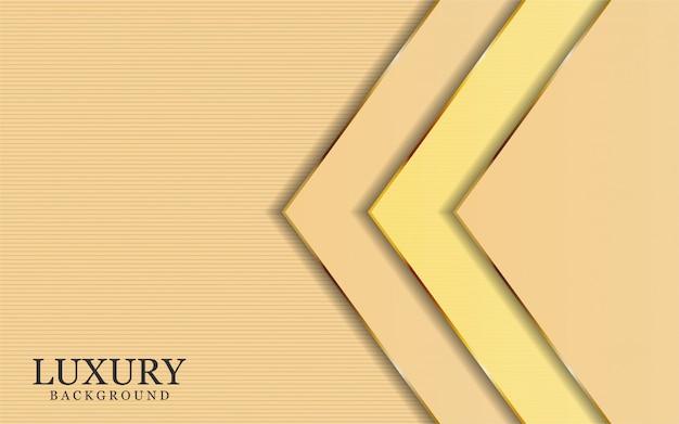 Il lusso astratto è aumentato con le linee dorate nel fondo astratto di stile
