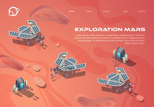 Il manifesto informativo è scritto esplorazione marte.