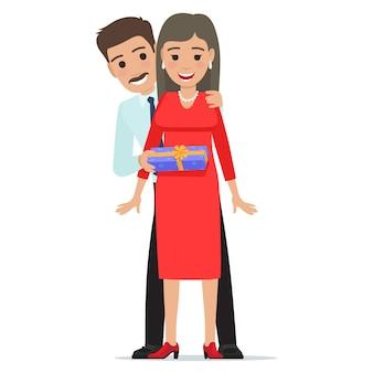 Il marito rende la moglie presente