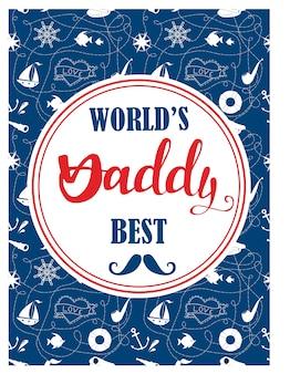 Il miglior design di carte per papà del mondo