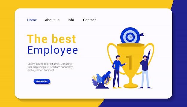 Il miglior modello di pagina di destinazione per i dipendenti, design piatto