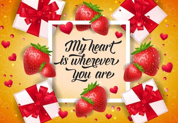 Il mio cuore è ovunque tu scriva