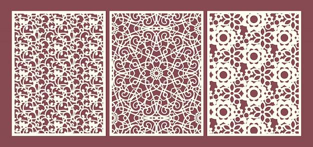 Il modello dei pannelli ornamentali del taglio del laser ha messo con i turbinii, i fiori e le foglie floreali