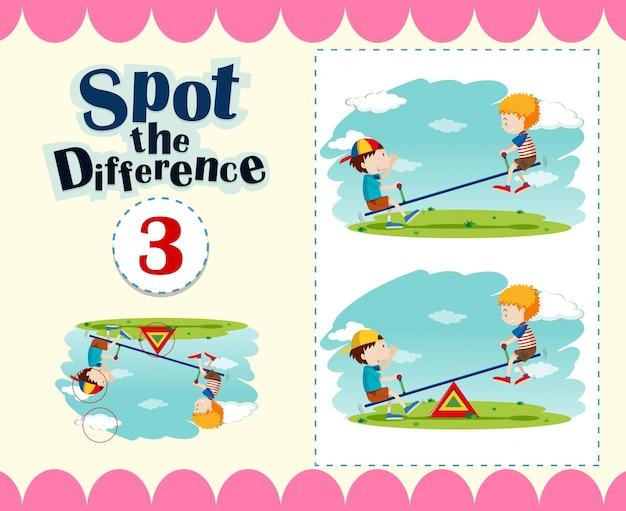 Il modello di gioco di individuare la differenza