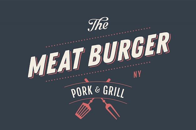 Il modello di illustrazione di burger di carne