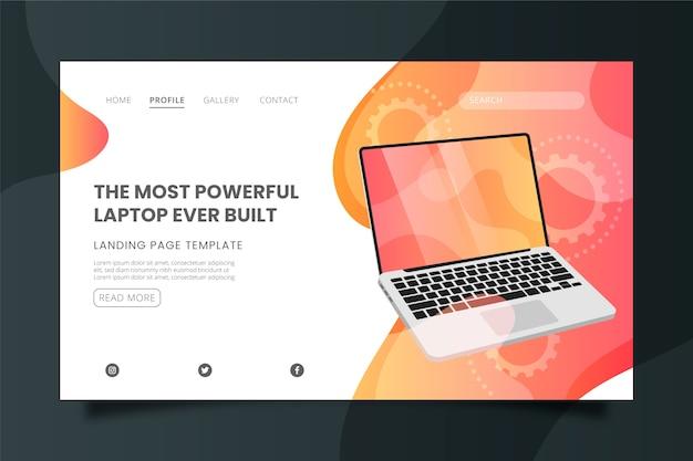 Il modello di landing page per laptop più potente