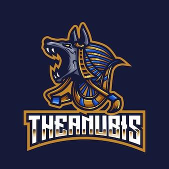 Il modello di logo di esport anubis