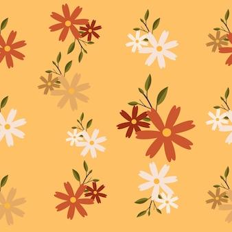 Il modello senza cuciture di fiori e foglie
