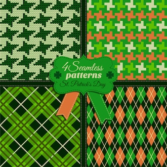 Il modello senza cuciture di modo ha messo i colori verdi del og in differenti strutture. celebrazione del giorno di san patrizio.