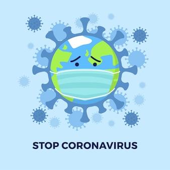 Il mondo del globo è posseduto dal virus corona