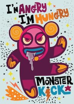 Il mostro arrabbiato sembra che l'orso abbia fame