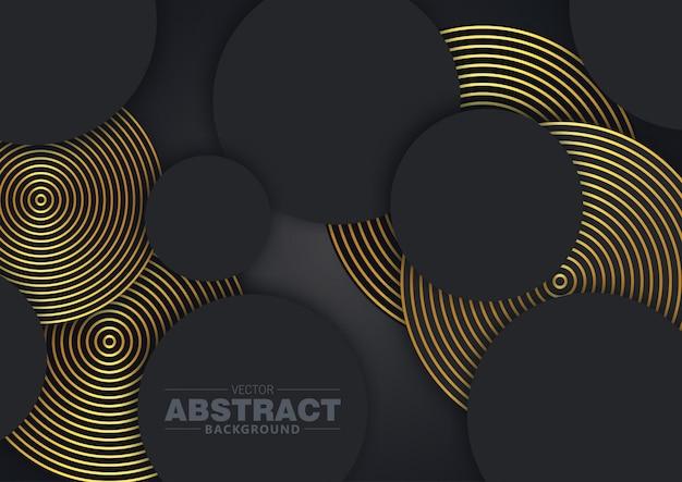 Il nero astratto del cerchio del fondo 3d