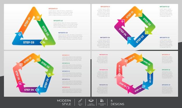 Il pacco di infographic ha messo con il concetto moderno di puzzle e di stile a scopo di presentazione, affare e vendita.