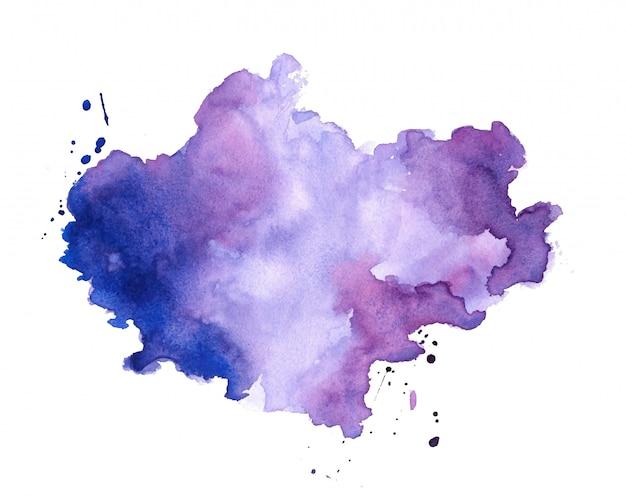 Il pittore della mano colora il fondo di struttura della macchia dell'acquerello