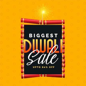 Il più grande disegno di poster di vendita di diwali con cracker