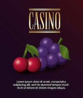 Il poker del casinò punta al gioco dell'uva e delle ciliegie della fortuna