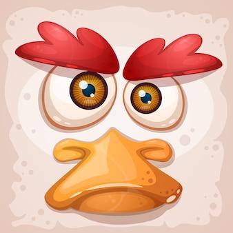 Il pollo è un'illustrazione divertente.