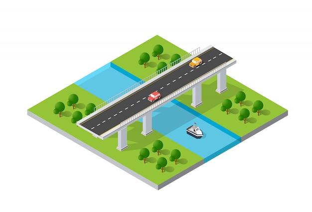 Il ponte skyway delle infrastrutture urbane