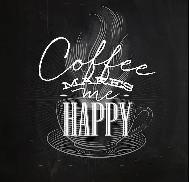 Il poster café mi rende felice