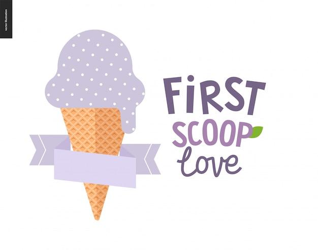 Il primo scoop ama il gelato