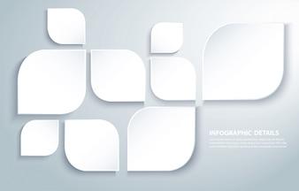 Il quadrato moderno astratto copre di foglie fondo
