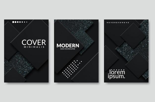 Il quadrato moderno nero di vettore si sovrappone il multi quadrato di illuminazione di carta per progettazione del sito web del messaggio e del testo