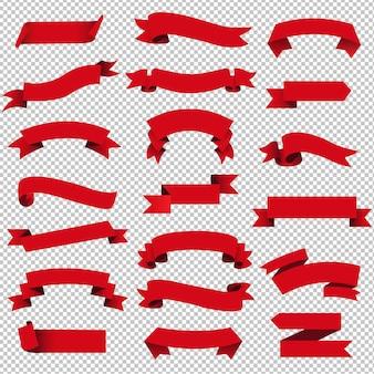 Il retro insieme rosso del nastro di web ha isolato trasparente