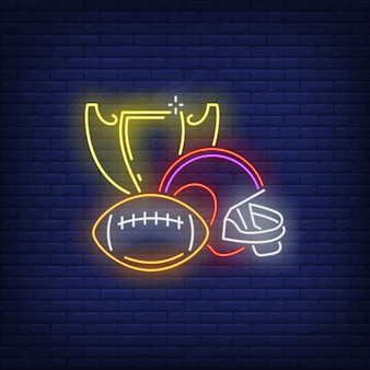 Il rugby emette un'insegna al neon