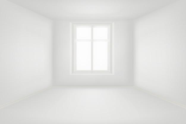 Il salone vuoto moderno con le pareti bianche vector l'illustrazione