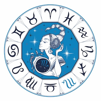 Il segno zodiacale dello Scorpione come una bella ragazza.