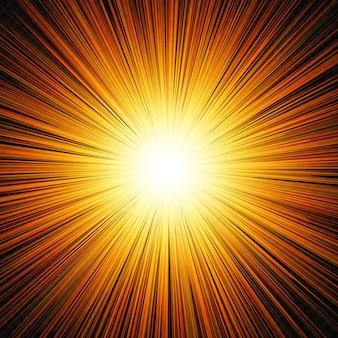 Il sole splende bagliore luce
