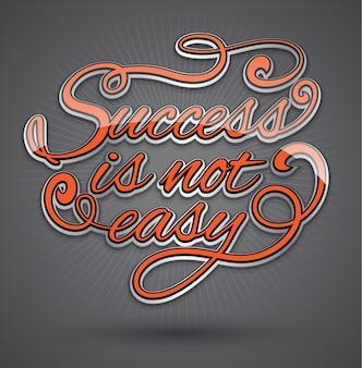 Il successo non è facile nella progettazione del testo
