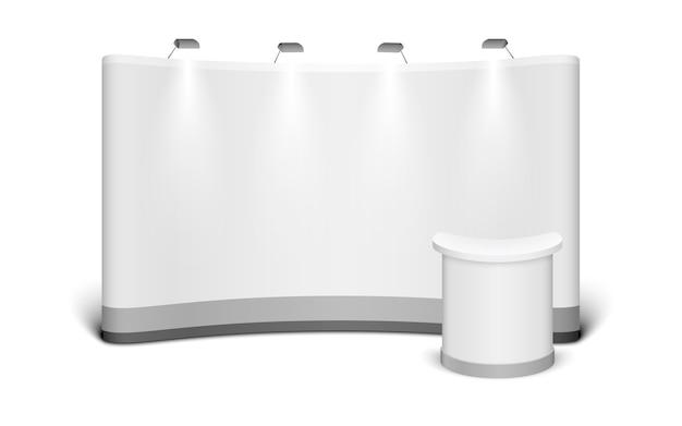 Il supporto commerciale di mostra deride su isolato su fondo bianco.