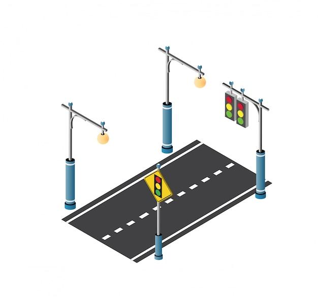 Il traffico del lampione stradale