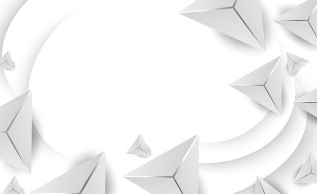 Il triangolo bianco astratto modella il fondo minimo.
