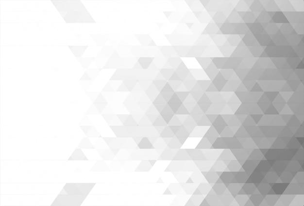 Il triangolo bianco astratto modella il fondo