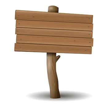 Il vecchio cartello in legno