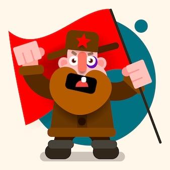 Il vecchio nel costume nazionale russo.