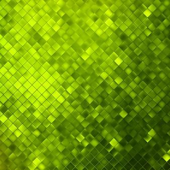Il verde luccica su uno sfondo sfocato morbido con riflessi morbidi.