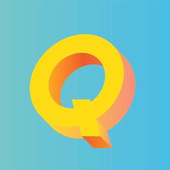 Il vettore della lettera q.