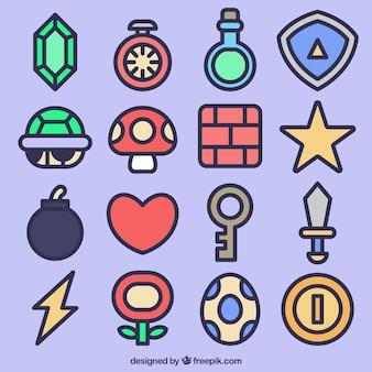 Il video gioco collezione di icone