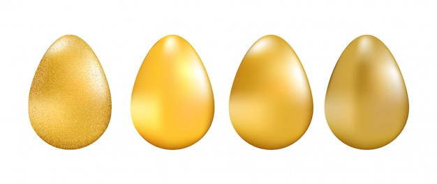 Illsustration dorato di vettore della raccolta delle uova.