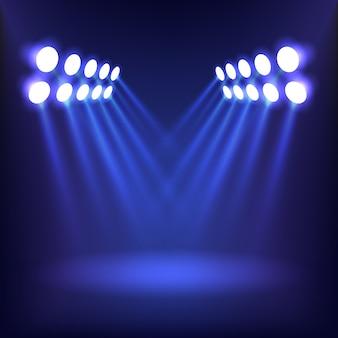 Illuminazione di sfondo blu.