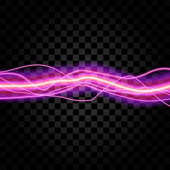 Illuminazione elettrica scintilla di tuono bagliore vettoriale