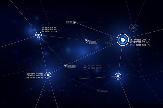 Illusatration globale di vettore di concetto di telecomunicazione della connessione di rete